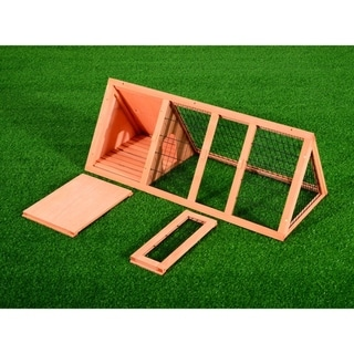 Pawhut Wooden Outdoor A-Frame Rabbit and Small Animal Hutch