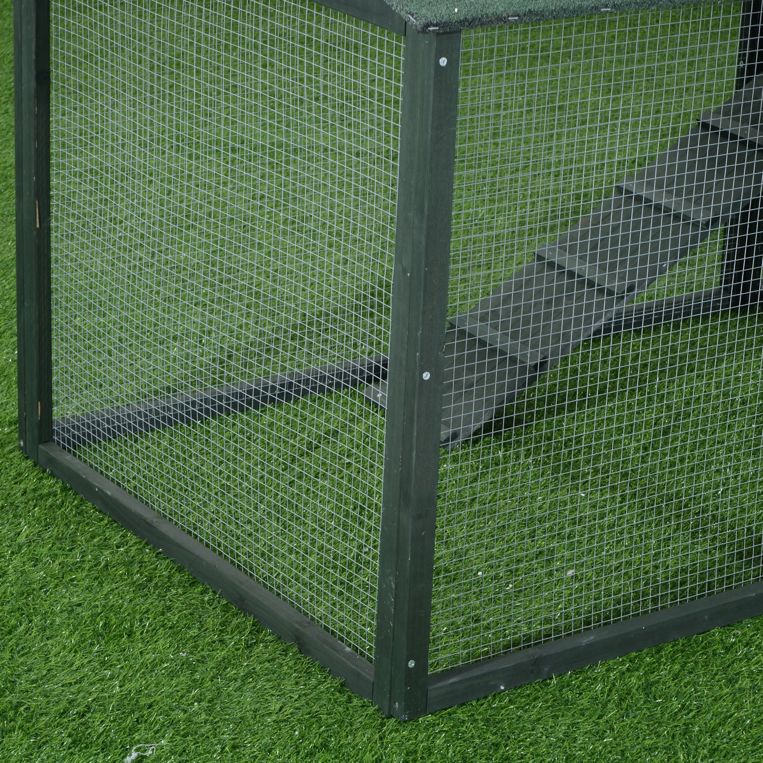 Picture of: Shop Black Friday Deals On Pawhut Green Wooden Backyard Poultry Hen House Chicken Coop Overstock 12514610