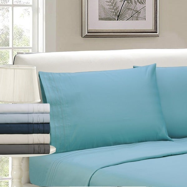 Superior Egyptian Cotton 1000 Thread Count Embroidered Sheet Set