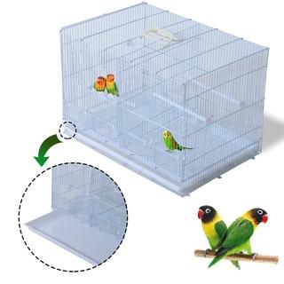 Pawhut 23-Inch Bird Birdcage - White