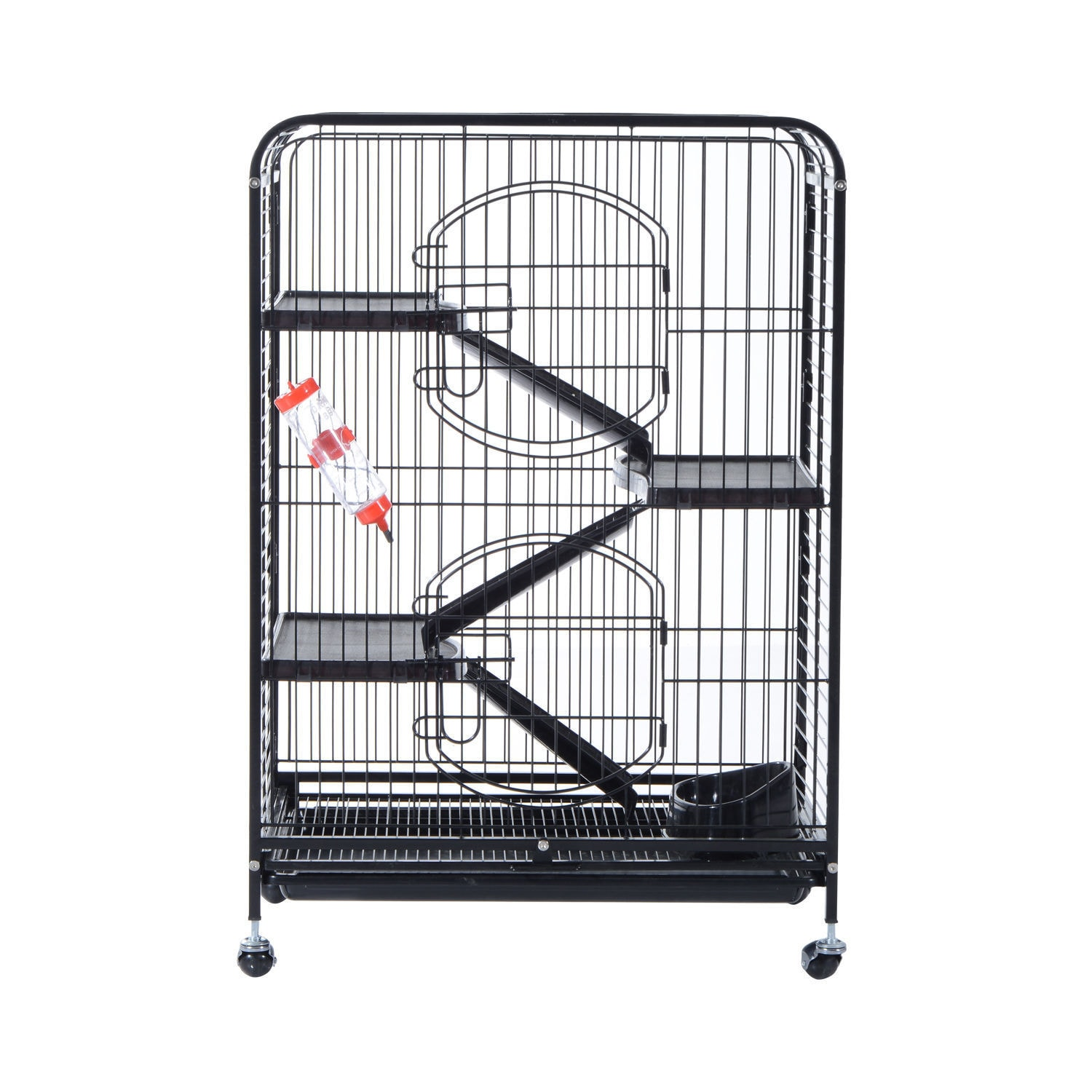 Pawhut 37-inch 4-level Indoor Rabbit & Small-Animal Cage ...