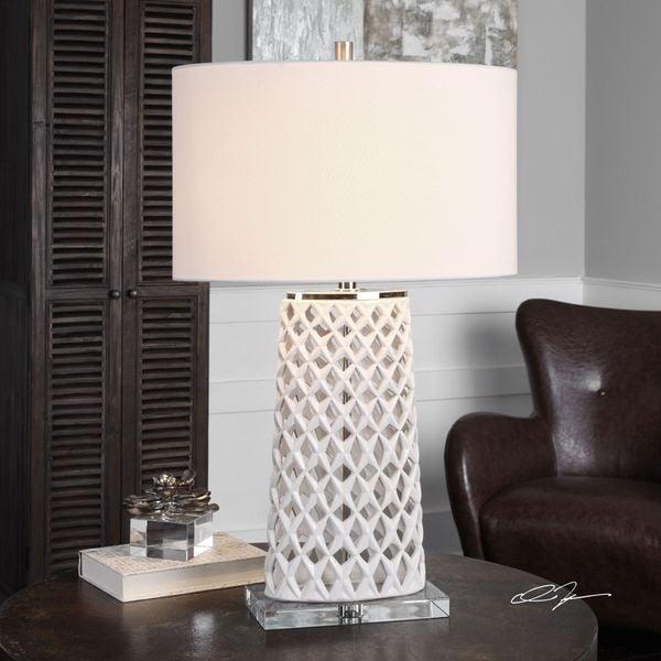 Dania White Table Lamp (1 Light)