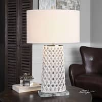 Dania White Table Lamp (1 Light)