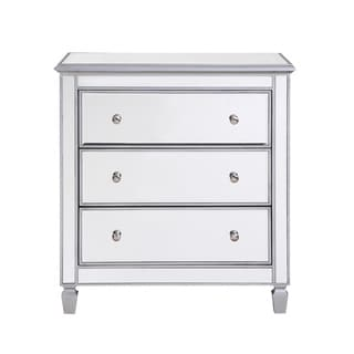 Elegant Lighting 3 Drawer Bedside Cabinet