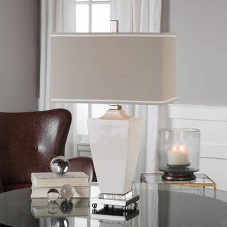 Rochelle White Glaze Table Lamp (1 Light)