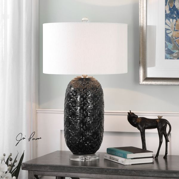 Kallithea Deep Blue Table Lamp (1 Light)