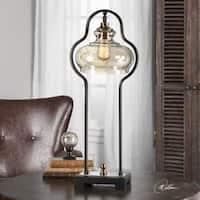 Cotulla Aged Black Desk Lamp (1 Light)