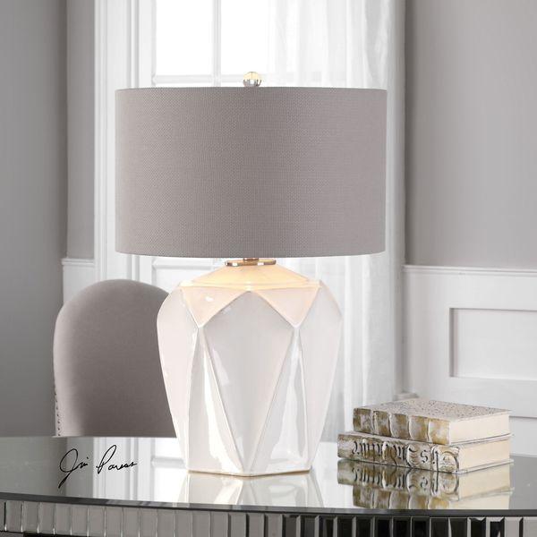Elvilar Gloss White Table Lamp (1 Light)