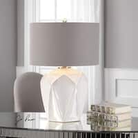 Elvilar Gloss White Table Lamp (1 Light)