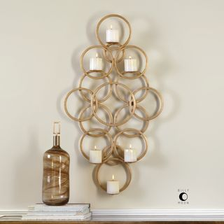 Coree Gold Rings Wall Sconce
