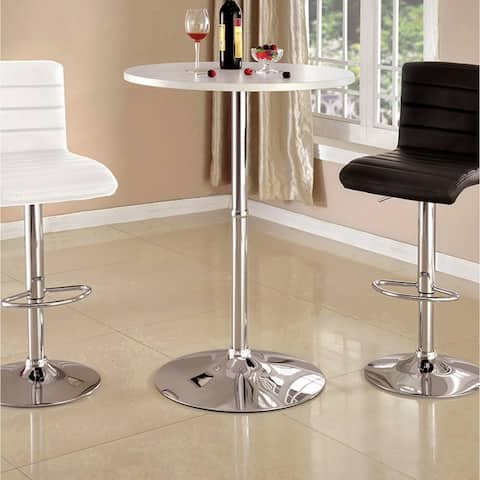 Cayla Contemporary High Gloss Round Bar Table by FOA