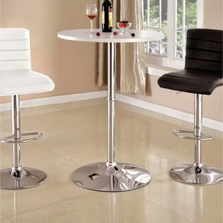 Furniture of America Cayla Contemporary High Gloss Round Bar Table