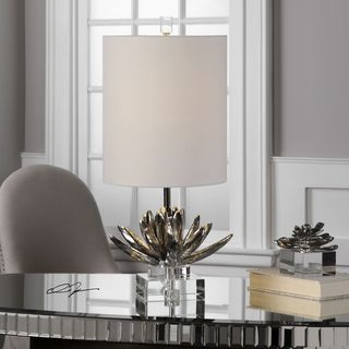 Silver Lotus Accent Lamp (1 Light)