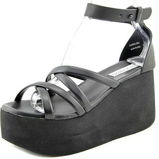 Steve Madden Women's 'Caraline' Black Leather Sandals