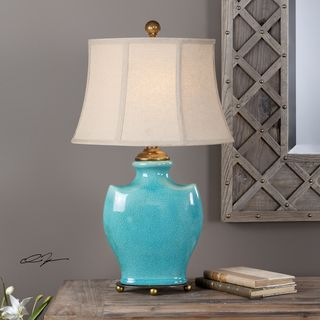 Solana Antique Light Blue Lamp (1 Light)