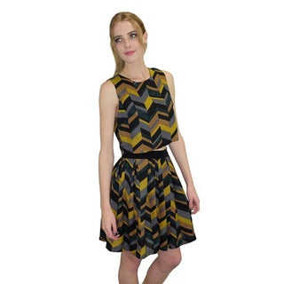 Relished Women's Polyester Chevron Skirt