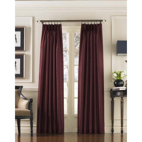 """Marquee Faux Silk Pinch Pleat Curtain Panel 108"""" in Sand (As Is Item)"""