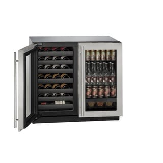 U-Line 3000 Series 3036BEV - 36 Inch Stainless Steel Beverage Center / Wine Cooler w/ Lock