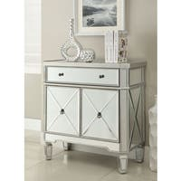 Coaster Company Stanton Collection Silver Wine Cabinet