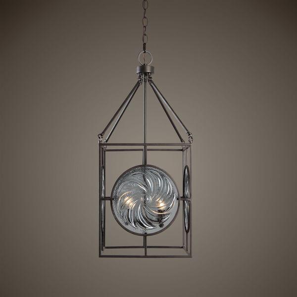 Volute 4 Light Pendant - Dark bronze
