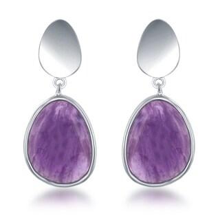 La Preciosa Sterling Silver Gemstone Dangle Earrings