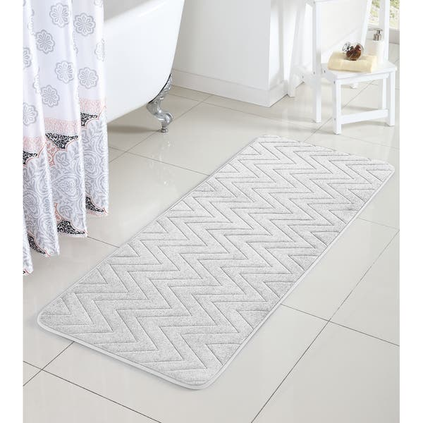 Vcny Chevron Bath Rug 24 X 60 Inches
