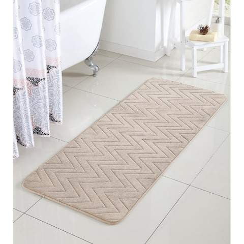 VCNY Chevron Bath Rug (24 x 60 inches) - 24 x 60