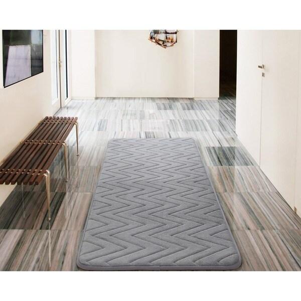 VCNY Chevron Bath Rug (24 x 60 inches) - 24 x 60