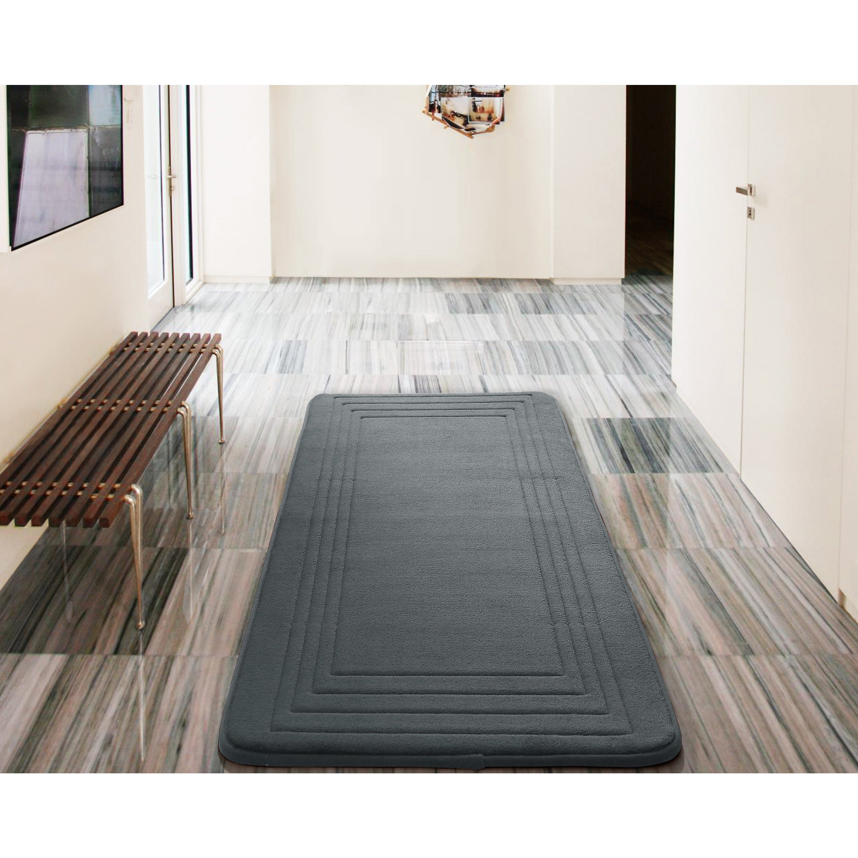 Vcny Hotel Bath Rug 24 X 60 Inches 24x60 Charcoal
