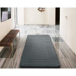 VCNY Hotel Bordered Foam Cushioned Microfiber Bath Rug (24 x 60 inches)