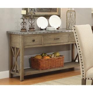 Coaster Natural Wood Server Table