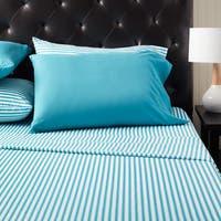 Home Dynamix Chelsea Loft Collection Stripe Pattern Sheet Set (6 piece set)