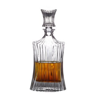 Fitz & Floyd Augusta Clear Crystal 26-ounce Decanter