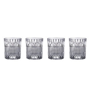 Fitz and Floyd Danbury Clear Crystal 8.8-ounce Old-fashion Glasses (Pack of 4)
