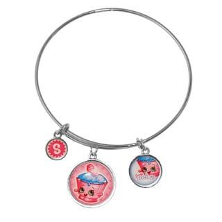 Shopkins Chidren's Three Charm Cupcake Chic High Polish Round-framed Expandable Bangle Bracelet
