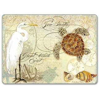 CounterArt Coastal Waterways Hardboard Placemat, Set of 2