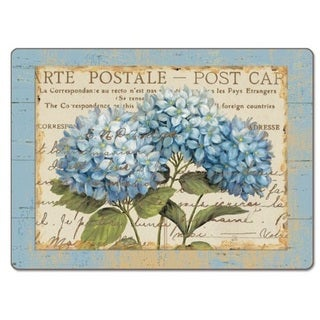 CounterArt Blue Hydrangeas Hardboard Placemat, Set of 2