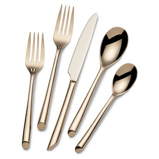 Towle Living Wave Rose Gold Plated 20-piece Flatware Set (Service for 4)