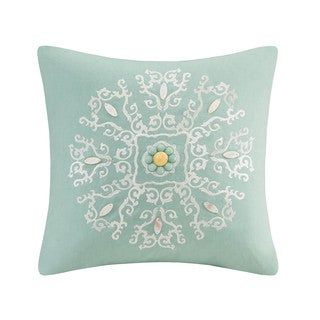 Echo Design Indira Red Teal Cotton Oblong Pillow