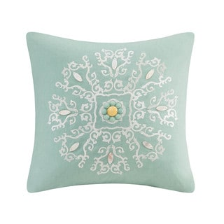 Echo Design Indira Red Teal Cotton Oblong Pillow