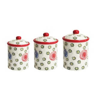 American Atelier Red Berries 3-piece Cannister Set