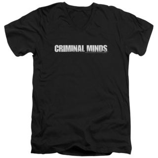 Criminal Minds/Logo Short Sleeve Adult T-Shirt V-Neck in Black