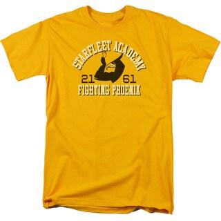 Star Trek/Go Fleet Short Sleeve Adult T-Shirt 18/1 in Gold