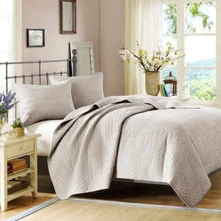 Hampton Hill Velvet Touch Linen Coverlet Set