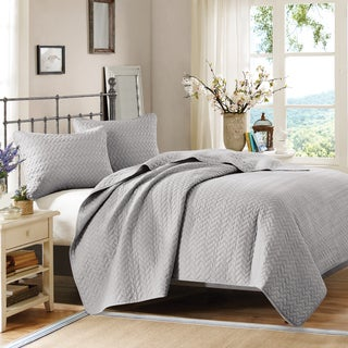 Hampton Hill Velvet Touch Steel Coverlet Set