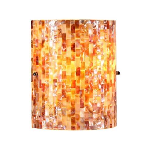 Mosaic Design 1-light Black Wall Sconce