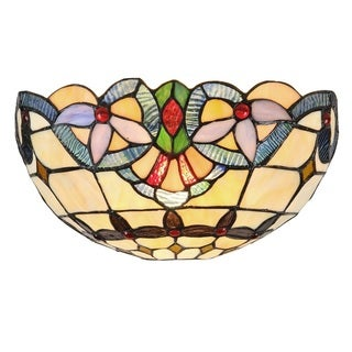 Link to Tiffany Style Victorian Design 1-light Black Wall Sconce Similar Items in Sconces