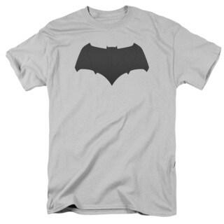 Batman V Superman/Batman Logo Short Sleeve Adult T-Shirt 18/1 in Silver