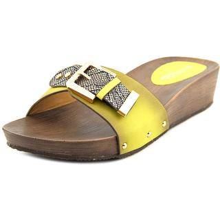 Patrizia By Spring Step Women's 'Celine' Yellow Leather Sandals