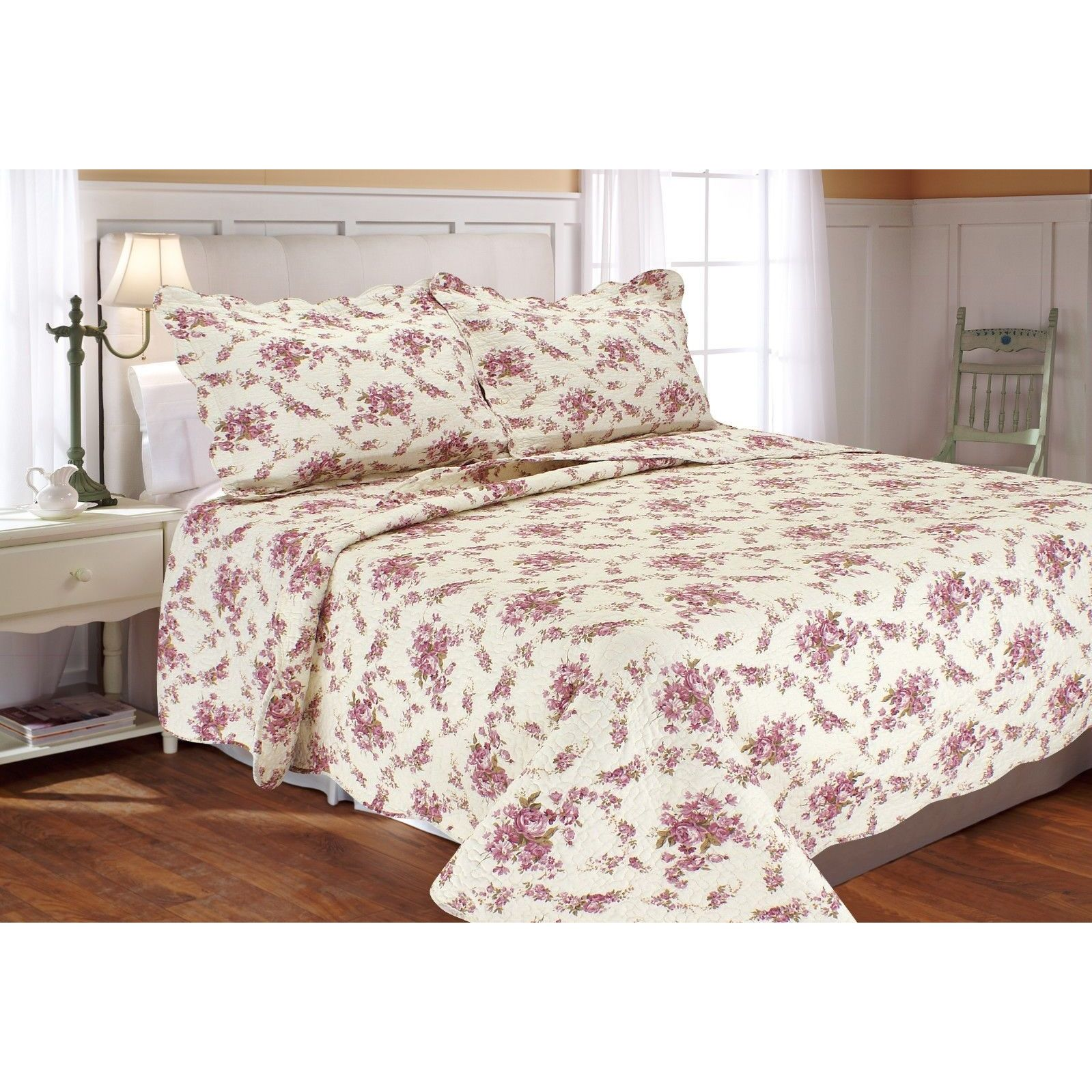 Vintage Rose Quilt Set On Sale Overstock 12516017